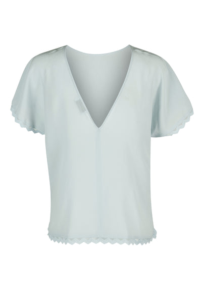 Valerie silk top ice blue