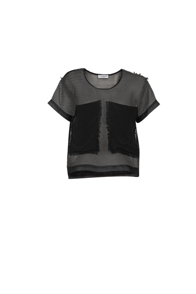 Zou organza top black