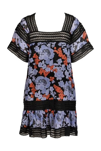 Abella Black Print Dress