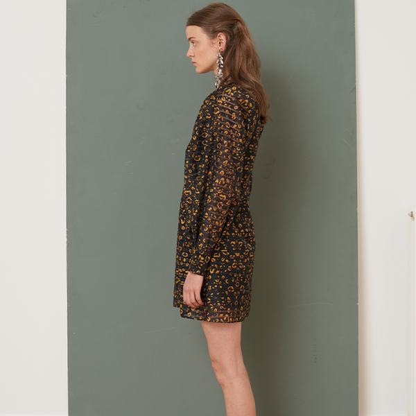 Alisa golden hour print dress