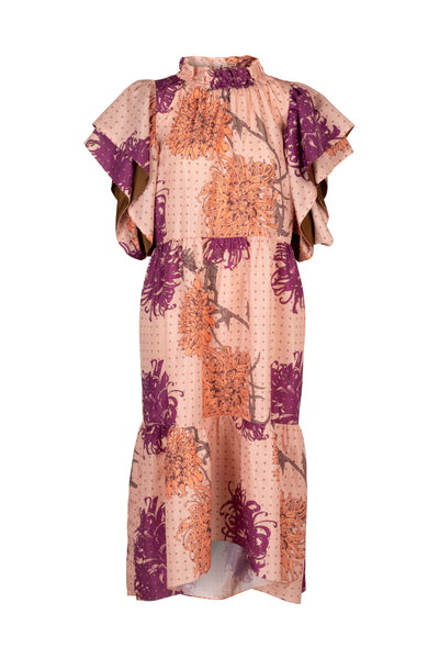 Ameli Peach Passion Print Dress