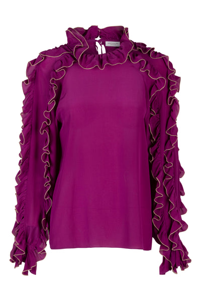 Charlotte Deep Orchid Blouse