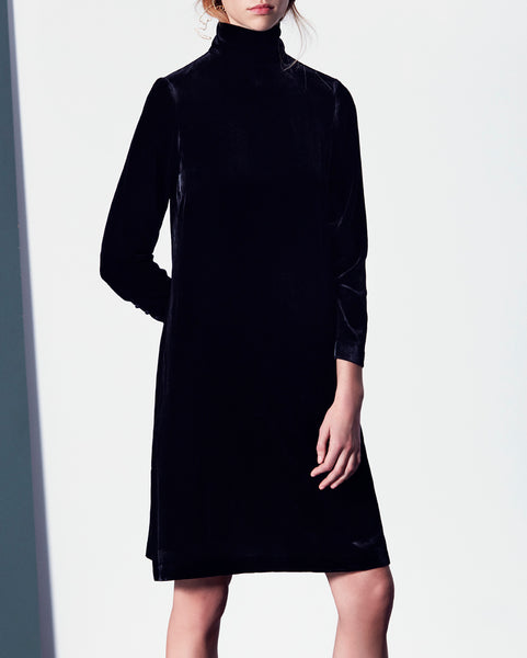 Lexie velvet dress black