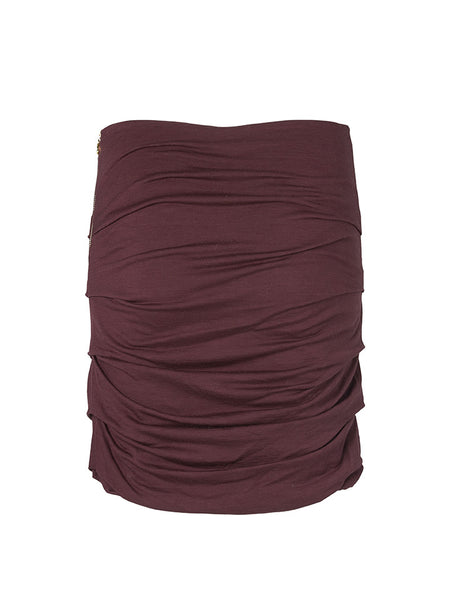Leyla skirt ruby