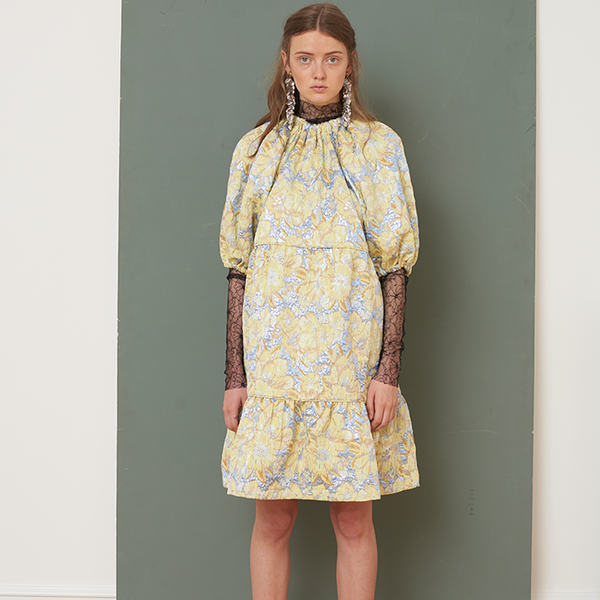 Mirielle lemon grass dress