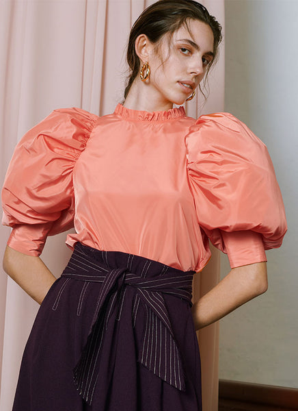 Yasmine Blouse Peach Passion