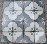 Reclaimed encaustic tiles from Alhambra Tiles