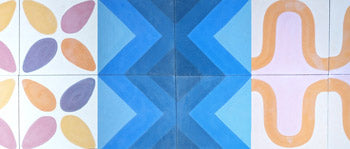 Contemporary encaustic tiles from Alhambra Tiles