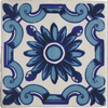Blue Flower Decorative Wall Tile - Azulejo-style