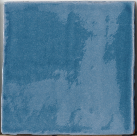 Provenzal Crackle-Glaze Wall Tile - Sea Blue