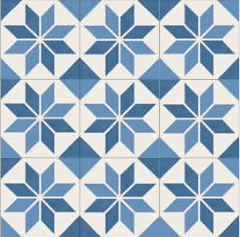 Picasso Blue Star Tile