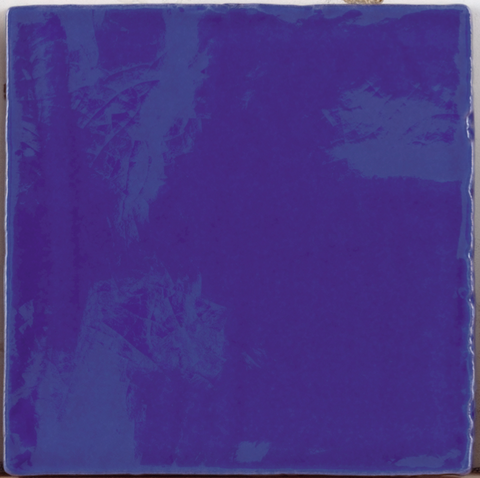 Provenzal Crackle-Glaze Wall Tile - Cobalt