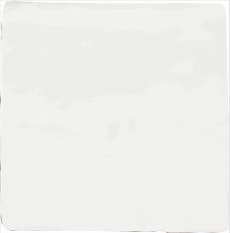 Provenzal Crackle-Glaze Wall Tile - White