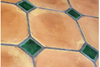 Octagonal Terracotta Tiles (machine-made)