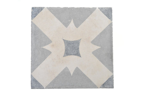 Black/Grey Cross Tile