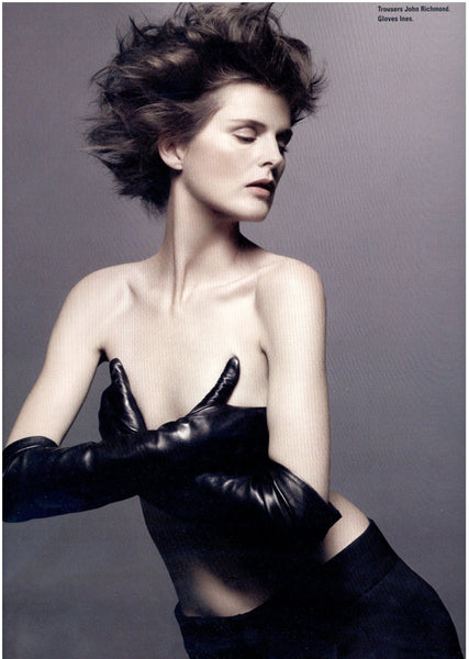 British Icons styled by Edward Enningful for ID-Magazine - Ines Gloves