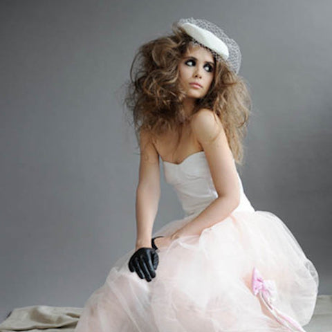 Ines Leather bridal gloves for VOGUE MAGAZINE