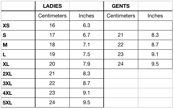 Ines Gloves Size Guide for Leather Gloves