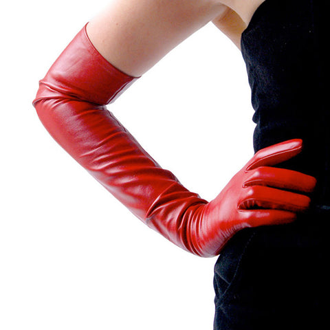 Ines Red Opera Gloves