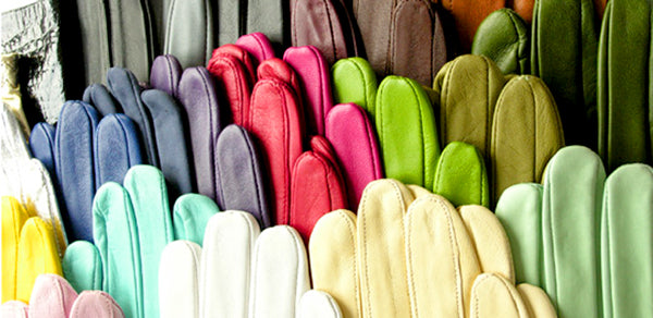 Colours of Leather Gloves by Ines