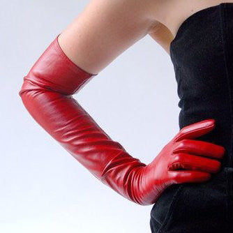 Ines Long Leather Gloves