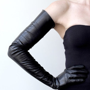 Ines Extra Large Long and Petite Leather Gloves