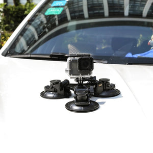 SHOOT Large/Small Size Car Windshield Suction Cup for GoPro Hero 7 8 5 Session Sjcam H9 Yi 4K Action Camera Tripod Holder Mount