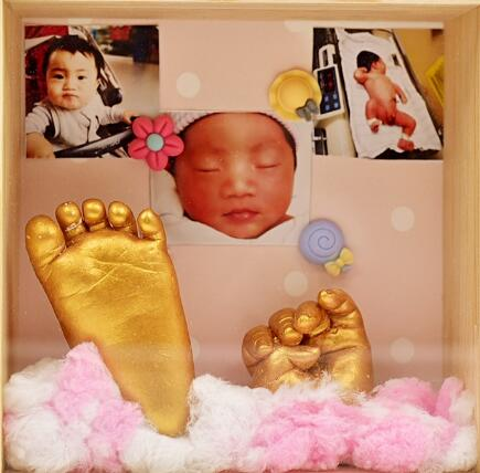 Baby 3D Hand & Foot Print mold powder Plaster Casting Kit Handprint Footprint Keepsake Gift Baby Growth Memorial