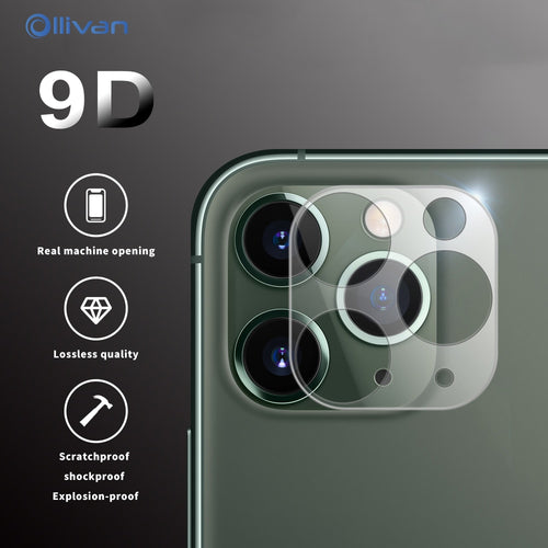 3Pcs Camera Lens Film Protective For iPhone 7 8 Plus 11 Pro XS Max XR X 9D Screen Protector For iPhone 11Pro Second change Film