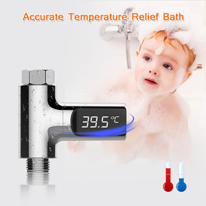 Newest LED Display Home Water Shower Thermometer Flow Self-Generating Electricity Water Temperture Meter Monitor For Baby Care