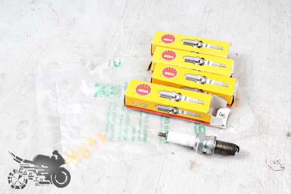 #TG73 4x used Spark Plug Rehbraun Good Condition Yamaha XS400 12E 1982-1987 #TG73