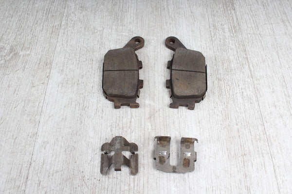 Orig. Rear Brake Pads + 4x Sheet Metal Clamp Clamps Yamaha YZF-R1 RN19 07-08