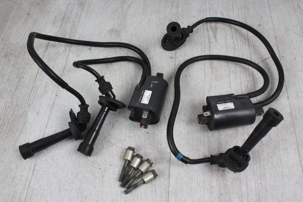 Orig. SET Zündspulen Kerzenstecker 1+2+3+4 RECHTS LINKS Suzuki GSX600F 98-02
