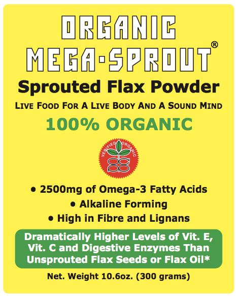 Omega - 3 Sprouted Flax Powder
