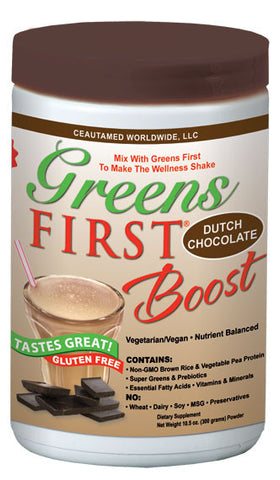 Greens First Boost is a premium vegetarian vegan meal replacement formula