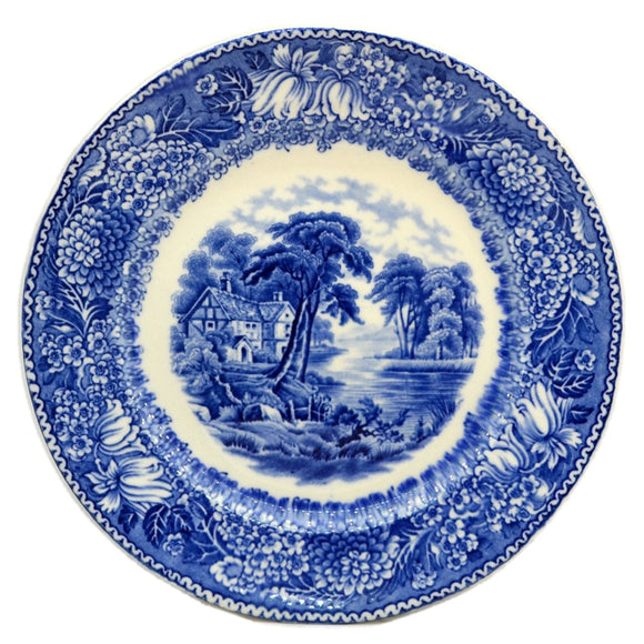 Adams English Countryside Blue and White China Plates