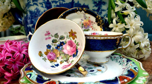 Vintage china tea cup collection