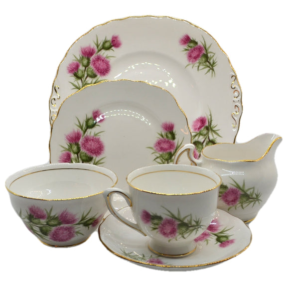 Colclough pink thistle 7608 vintage china