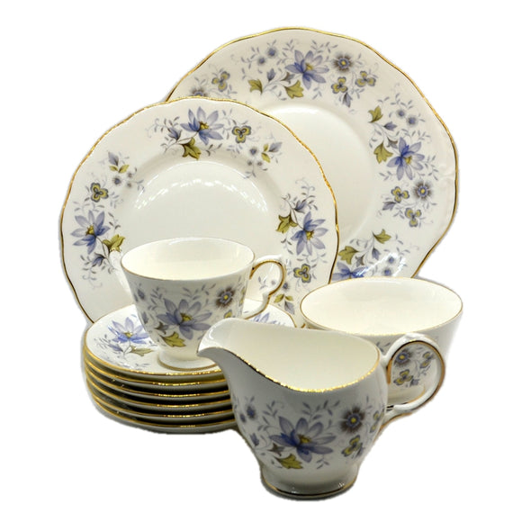 Colclough China Rhapsody in Blue 8683