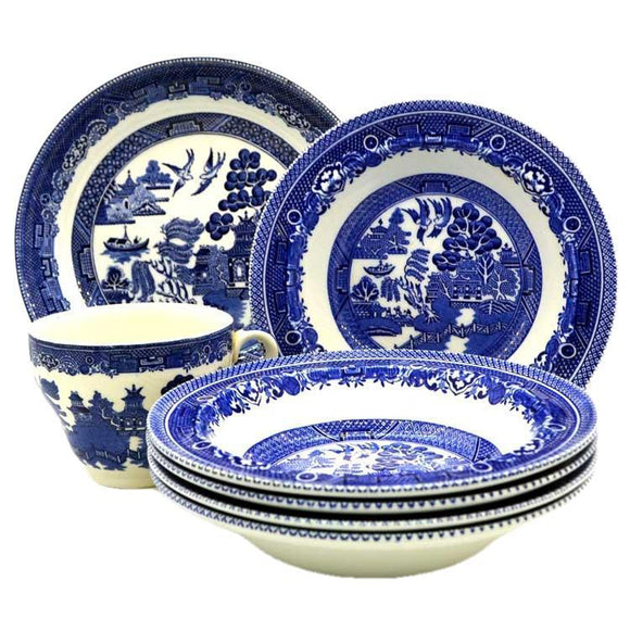 Willow China Blue Willow China Old Willow blue and white china