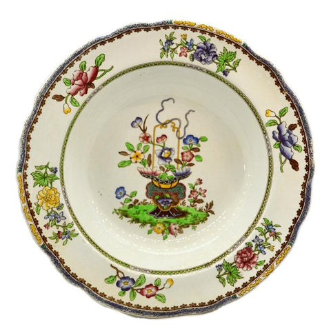 Copeland Spode old bow china soup bowls