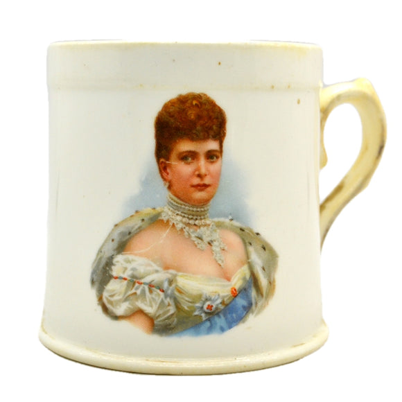 1902 Edward VII & Alexandra Coronation Doulton China Mug