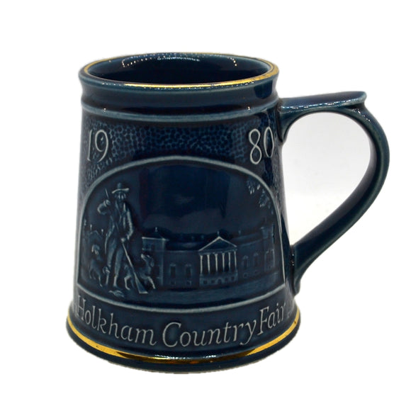 Vintage Holkham studio pottery 1980 Country Fair Tankard