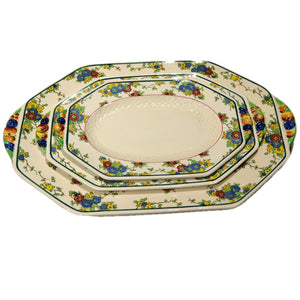 Royal Doulton China Cromer D4744 Platter Set