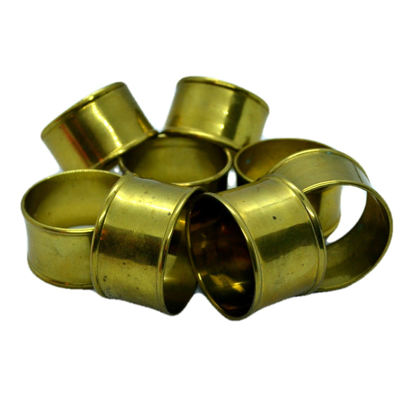 vintage brass knapkin ring set