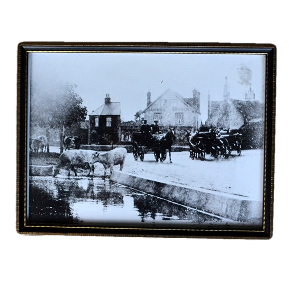 Antique Framed Print of Martham Village Norfolk