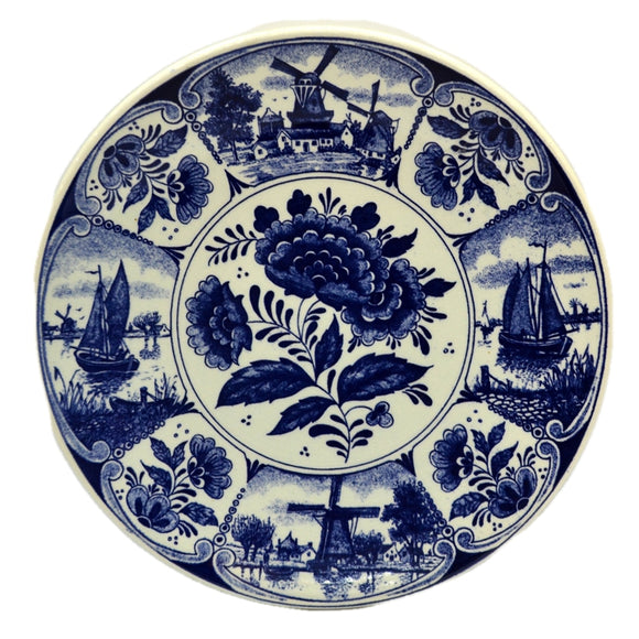 Blauw Delfts Blue and white China Wall Plate