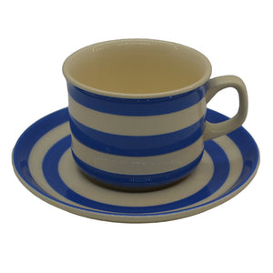 Modern reproduction blue cornish kitchen ware tea cup