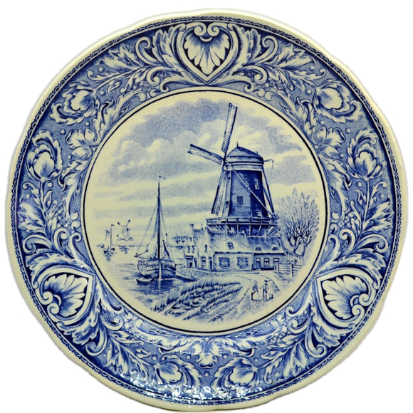 Boch Deltfs Flow Blue and White China Wall Plate