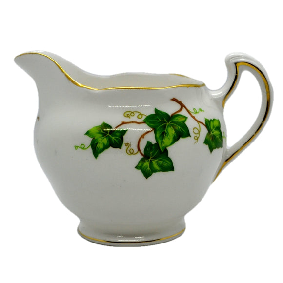 Ivy Leaf milk jug Colclough bone china